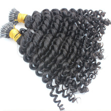 Hair Brazilian Human-Hair-Extensions Microlinks Loose Wave Color1 Natural Made-I-Tip