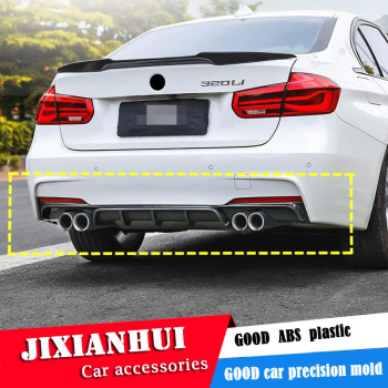 For F30 F35 Body kit spoiler 2012-2017 For BMW 3 series 320i  ABS Rear lip rear spoiler front Bumper Diffuser Bumpers Protector