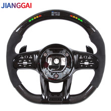 LED Shift Light Carbon Fiber Steering Wheel Compatible With Mercedes Benz W205 W212 W463 C63 S63 CLS63 E63