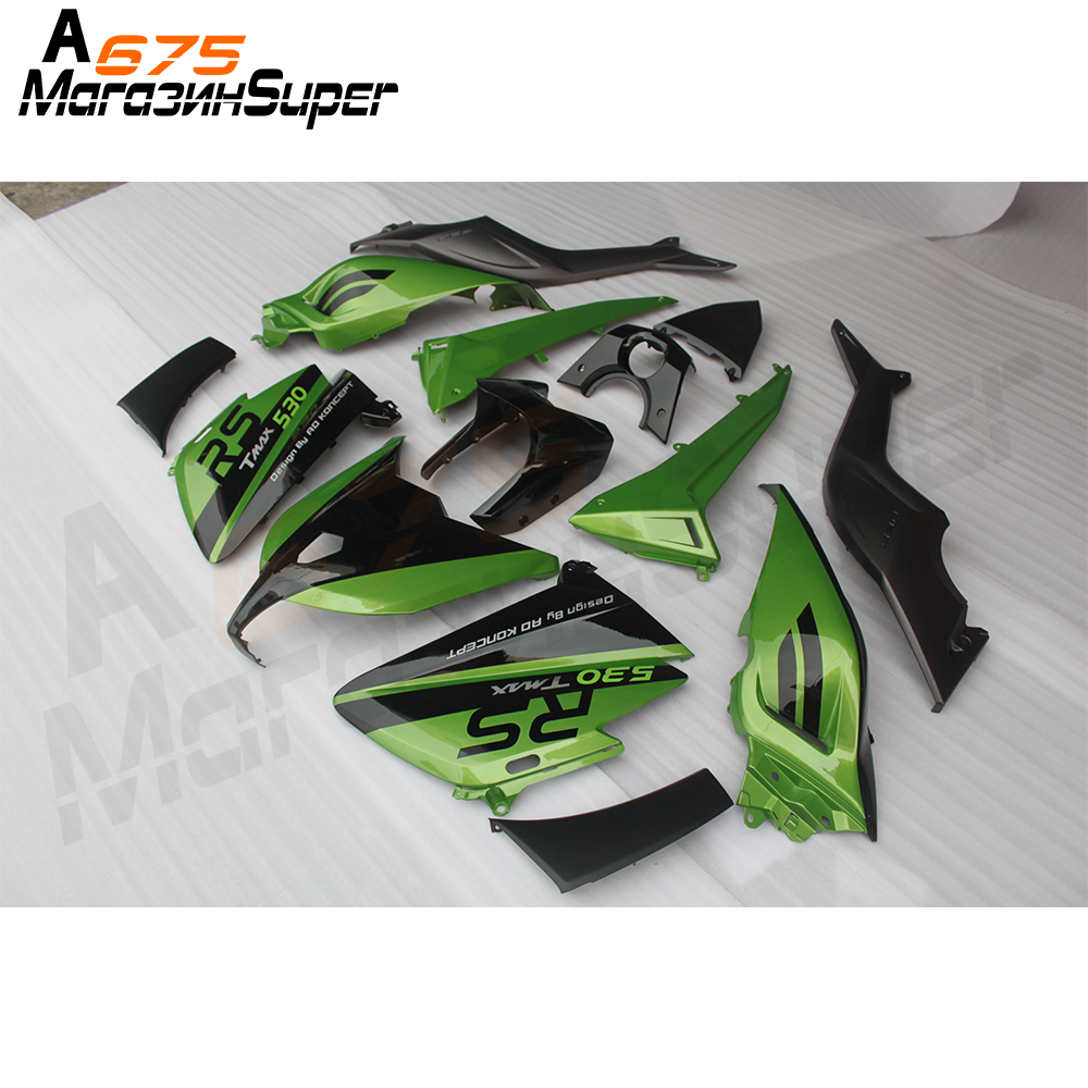 Full ABS Plastic Injection Gloss Green Matte Black Hulls New Motorcycle Fairings For Yamaha T-MAX 530 2012-2019 1219 Body Frames