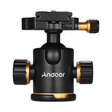 Andoer حامل كاميرا بانورامي ثلاثي القوائم من سبائك الألومنيوم ، محول تثبيت ، مع لوحة تحرير سريعة ، سعة تحميل 3 كجم