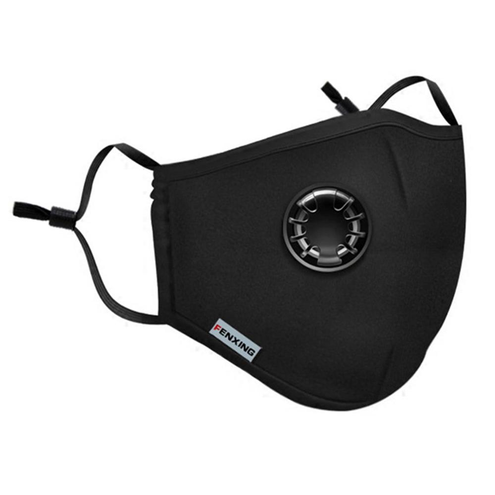 Anti-Fog And Dust-Proof Pm2.5 Mask Washable Anti Smoke Mask Face Protective Masks + 2 Filters Breathing Valve