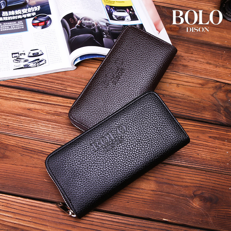 Men's Long Wallet 2020 New Design PU Leather Purse Classic Zip Around Wallet Male Day Clutch Phone Case Casual Cards Holder