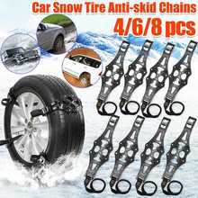 2/4/6/8 pcs Universal TPU Winter Car Snow Chain Tyre Wheel Anti skid Safety Belt Safe Driving For Ice Sand Muddy Offroad