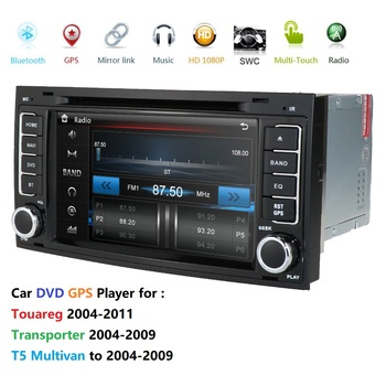 2 din Car Multimedia Player For VW Volkswagen Touareg T4 Transporter T5 GPS Navigation AutoRadio 2004 2005 2006 20082011 image
