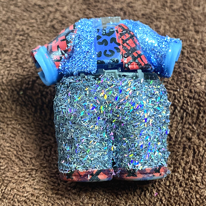lol doll Big Boy Light Blue Hair DIY Blue Dress Kids Birthday Gift
