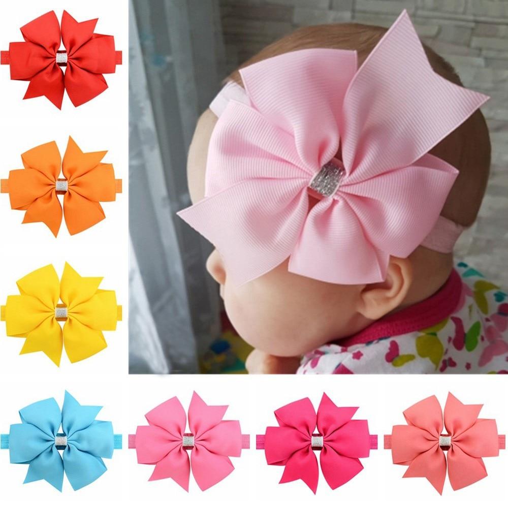 Baby Girl Headbands Elastic Floral Headbands Hair Baby Girls Flower Hair Band Baby Hair Accessories Diademas Para Bebe Haarband