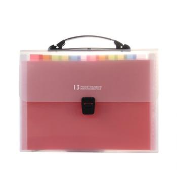 Rainbow Expanding bag A4 File Folder A6 Document Organizer 13/24 Pockets Accordion Folder Organizer for Portable Documents Bag fashion portable expanding file folder a4 paper folder for documents quality office document briefcase