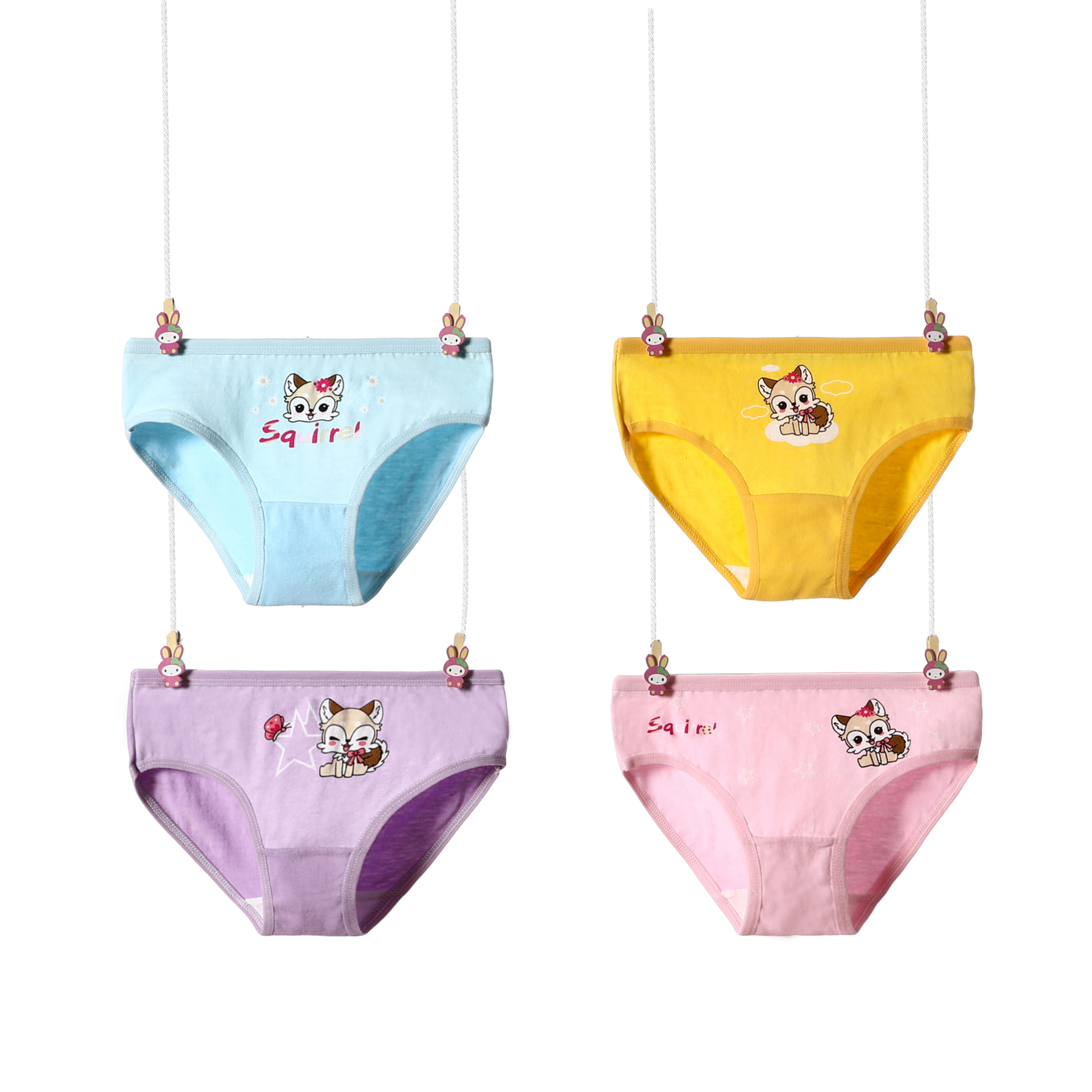 4 Pcs/Lot Girls Briefs Soft Cotton Children Panties Lovely Cute Cartoon  Baby Girls Underwear Breathable Girl Panties For 2-12Y - Hot Promo #51205D  | Cicig