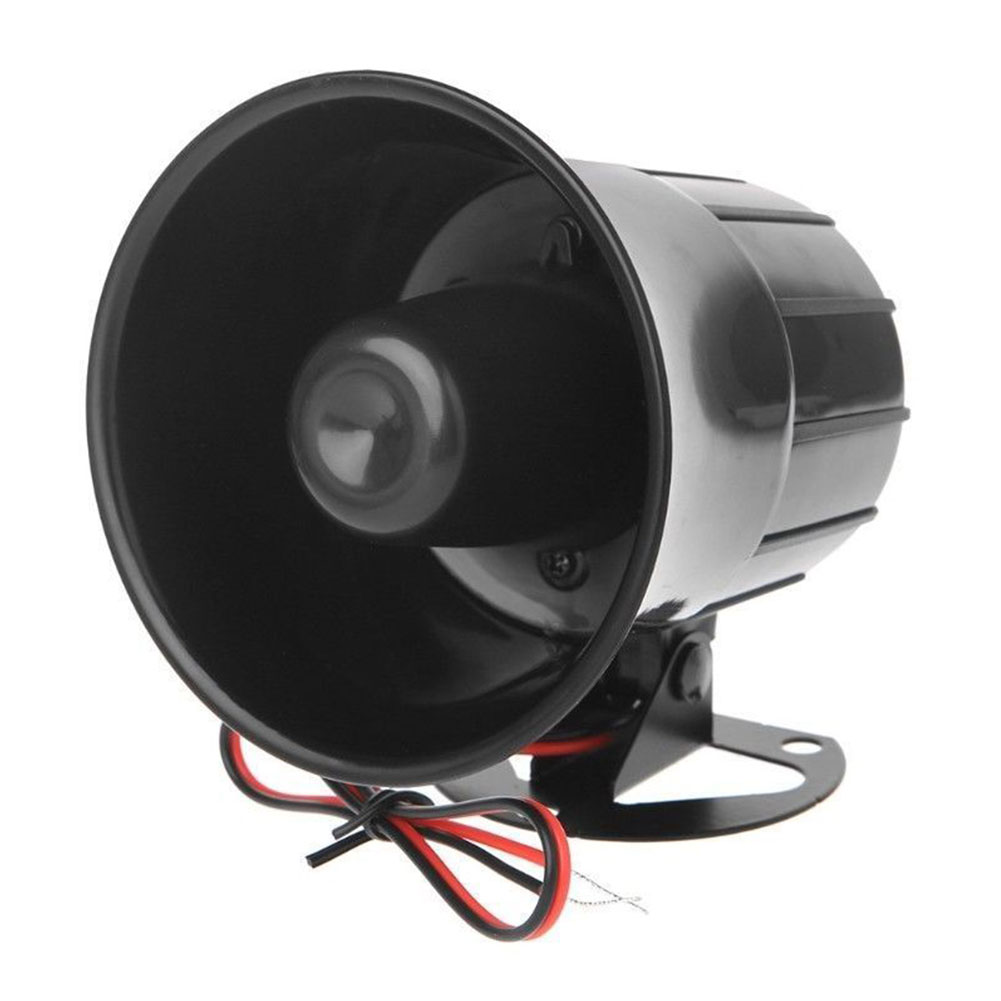 Protection Wired Anti-theft Alarm Horn DC 12V Siren Loud Sound Durable Speaker Outdoor Home Security System With Bracke Tool ABS
