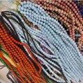 4/6/8 мм натуральные камни, круглые бусины с аметистами браслеты-лазурит Бусины Агата кварц камень минералов для самостоятельного изготовлен...