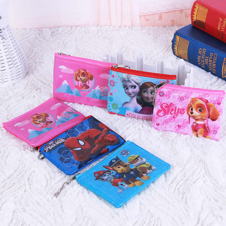 Disney Frozen Spider-Man Dog Patrol niños dibujos animados de monedero mini BOLSA monederos para niños pequeño bolso de bebé niña monedero