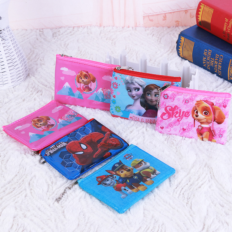 Disney Frozen Spider-Man Dog Patrol Children Coin Purse Cartoon Coin Purse Mini Bag  Kids Purses  Small Bag  Baby Girl Purse