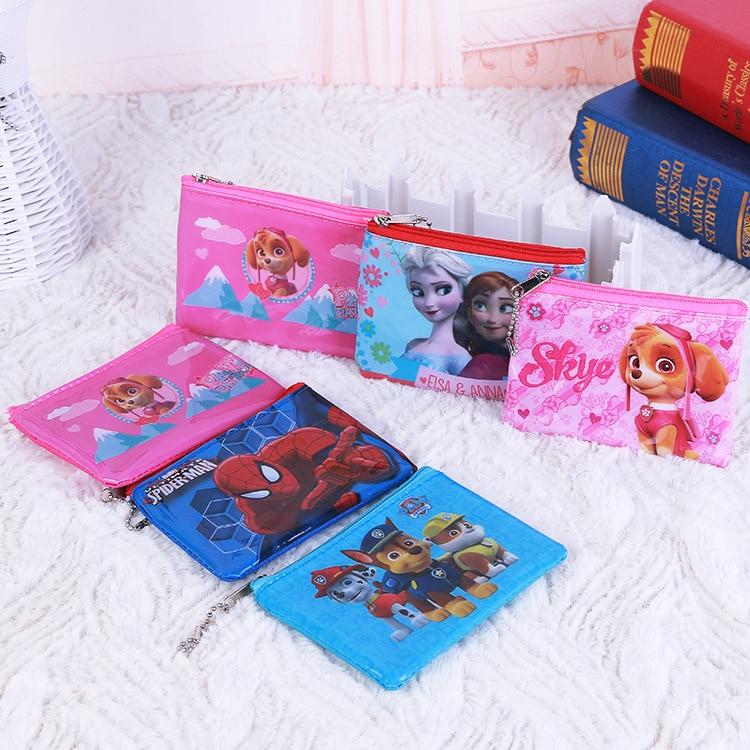 Disney Frozen Spider-Man Dog Patrol Children Coin Purse Cartoon Coin Purse Mini Bag  Kids Purses  Small Bag  Baby Girl Purse
