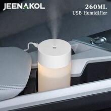 260ML USB Car Mini Humidifier Aroma Diffuser Ultrasonic Columnar Office Desktop Simple Small Aromatherapy Machine