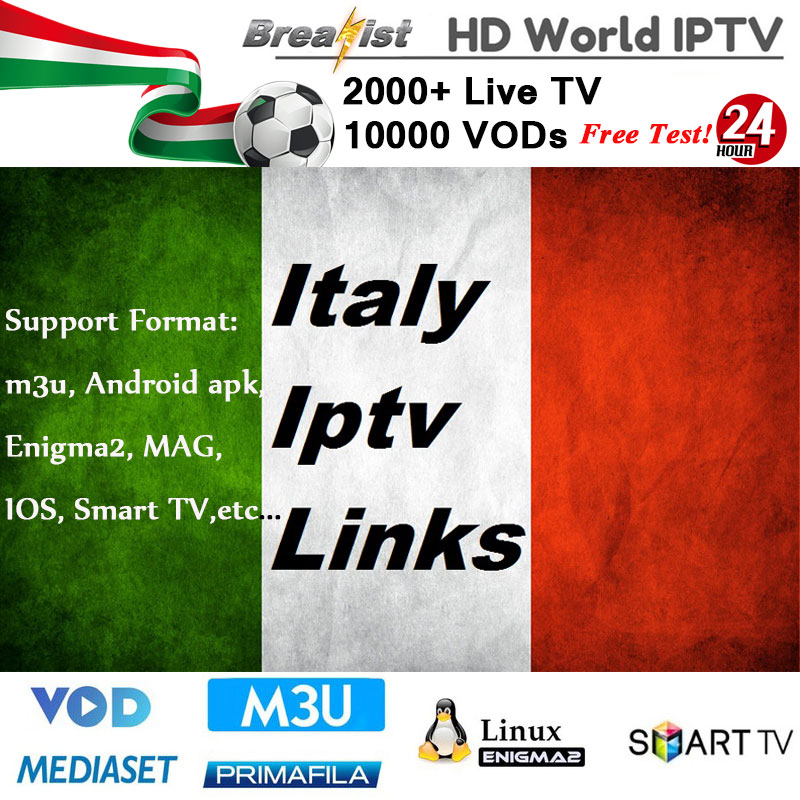 1 Year IPTV Italia For Smart Tv Enigma2 M3u MAG Android Tv Box Support Iptv Italy Subscription Spain France Germany Netherlands