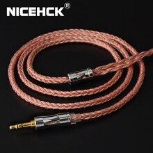 NICEHCK C16 3 16 النوى عالية النقاء الكابلات النحاسية 3.5/2.5/4.4 مللي متر التوصيل MMCX/2Pin/QDC/NX7 دبوس ل C12 ZSX ZAX TFZ BL 03 NX7 MK3 LZ A7
