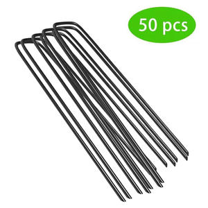 Soaker-Landscape Staples Fabric Ground-Cover Garden Fence Yard Home Tubing Steel Stake
