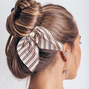 2019 nouvelle mode en mousseline de soie soie doux arc cheveux chouchous femmes cheveux cravate cheveux corde bandes en caoutchouc élastique pour queue de cheval accessoires de cheveux