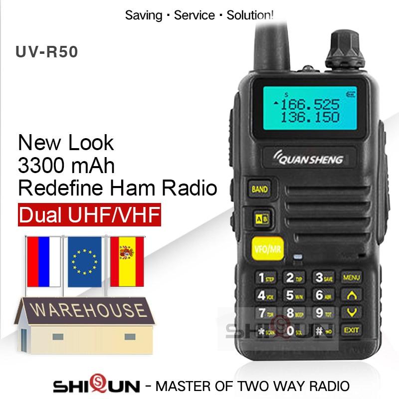 Quansheng UV-R50-2 Upgrade Mobile Walkie Talkie Vhf Uhf Dual Band Radio Comunicador Hf Transceiver UV-R50-1 UV R50 Series Uv-5r