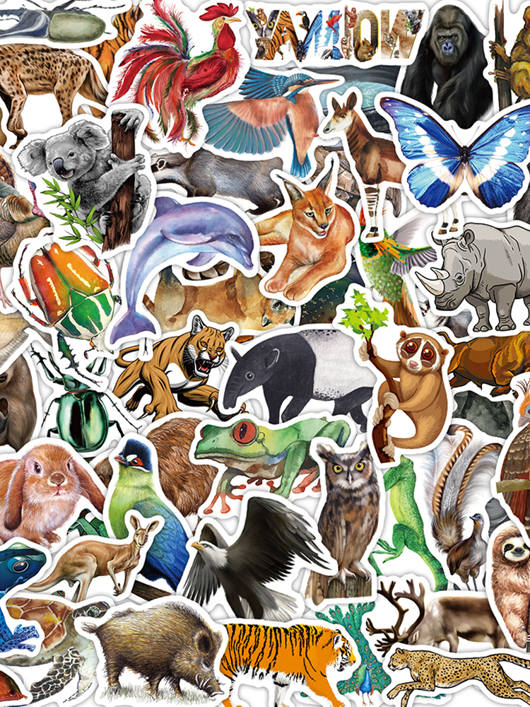 Animals Stickers Decal Cool-Toys Bicycle-Skateboard Rainforest Laptop-Water-Bottle Waterproof