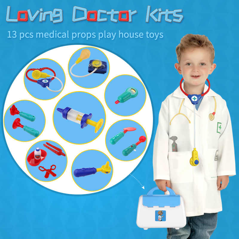 Kids Doctor Kits Pretend Toys Boys Girls Medical Set Doctor Nurse Role Play Game Emulational Toys For Children Girls Play House