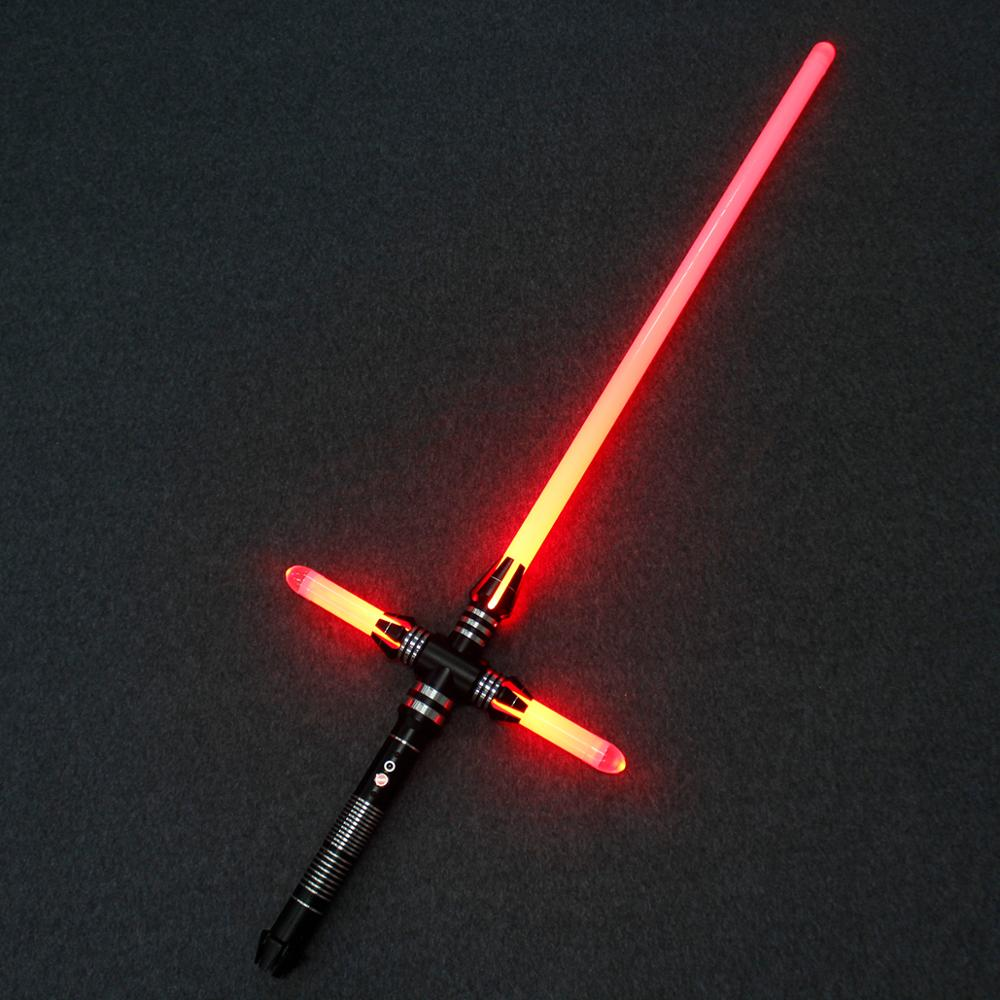Led Lightsaber Dark Jedi Knight Cross Light Saber Sith Ben Solo De Kracht Wakker Duel Light Saber Lichtgevende Speelgoed Voor kid Gift