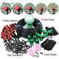 MUCIAKIE 5-50M riego de jardín automático sistema de riego por goteo ajustable controlador de temporizador de agua Digital 4/7mm Micro Drop Kits