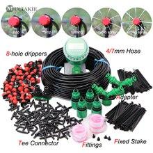 Muciakie 5 50M Automatische Tuin Watering Verstelbare Druppelsysteem Digitale Water Timer Controller 4/7Mm micro Drop Kits