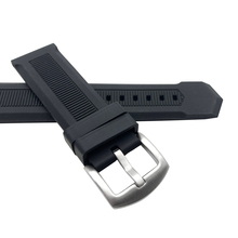 Hot Sale Rubber Watchband 22mm Men Black Sport Diving Silicone Watch Band Strap Stainless Steel Metal Pin Buckle Bracelet + Tool цена 2017