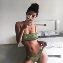 New Sexy Women Bikini Push up Pleated triangle Swimwear Push-up Bra Set Swimsuit Beach Wear Bathing Suit