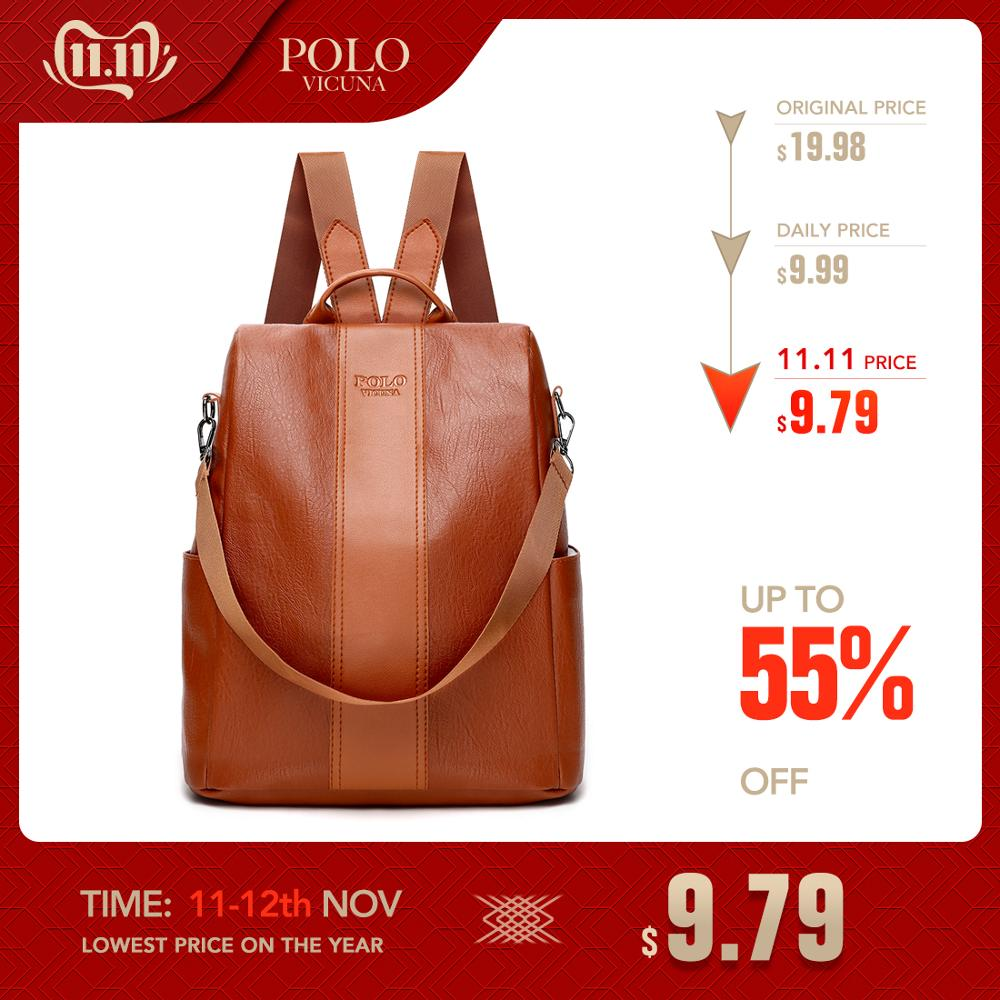 VICUNA POLO Women Backpack Female 2018 New Shoulder Bag Multi-purpose Casual Fashion Ladies Small Backpack Travel Bag For Girls