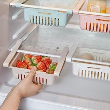 Simple and versatile refrigerator storage box creative retractable pull-out drawer household convenient