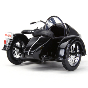 Image 4 - Maisto 1:18 1948 FL دراجة نارية sidecar دييكاست سبيكة نموذج دراجة نارية لعبة