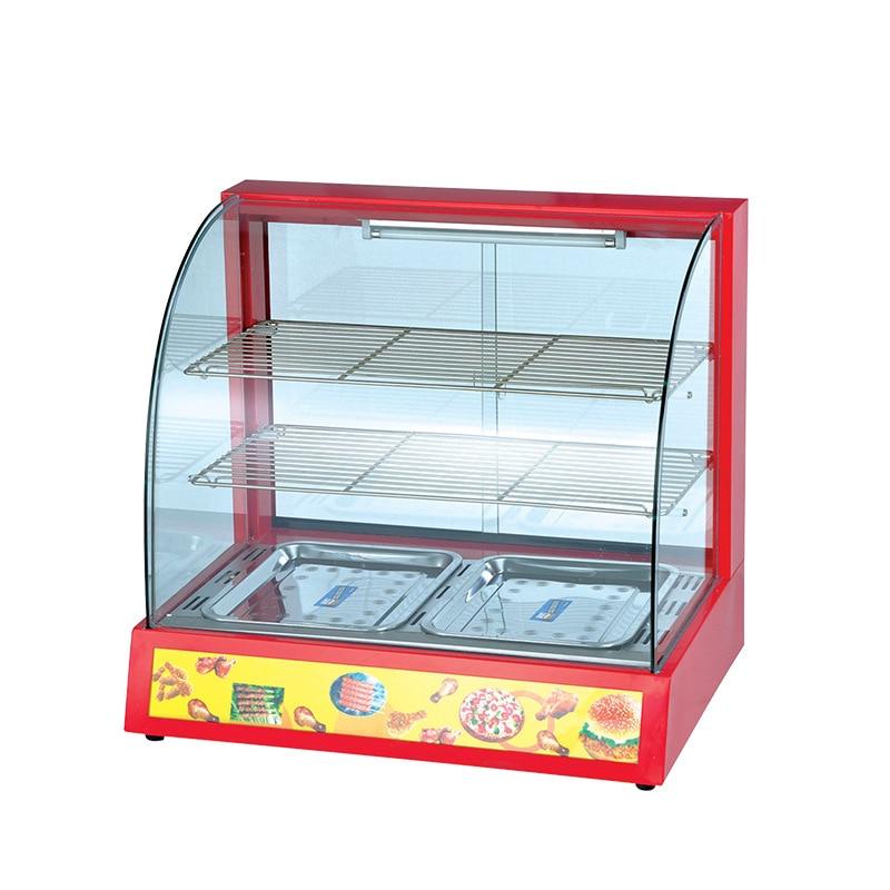 Intelligent Warmer Commercial Food Cabinet Burger Pizza Desktop Constant Temperature Glass arc Warmer Bakery Equipment Hot Buy