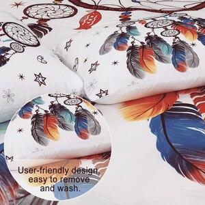 Image 5 - Yimeis Singolo Set di Biancheria Da Letto Set di Biancheria Da Letto Moderna Trapunte Queen Dream Catcher Letto Lenzuola E Federe 47123