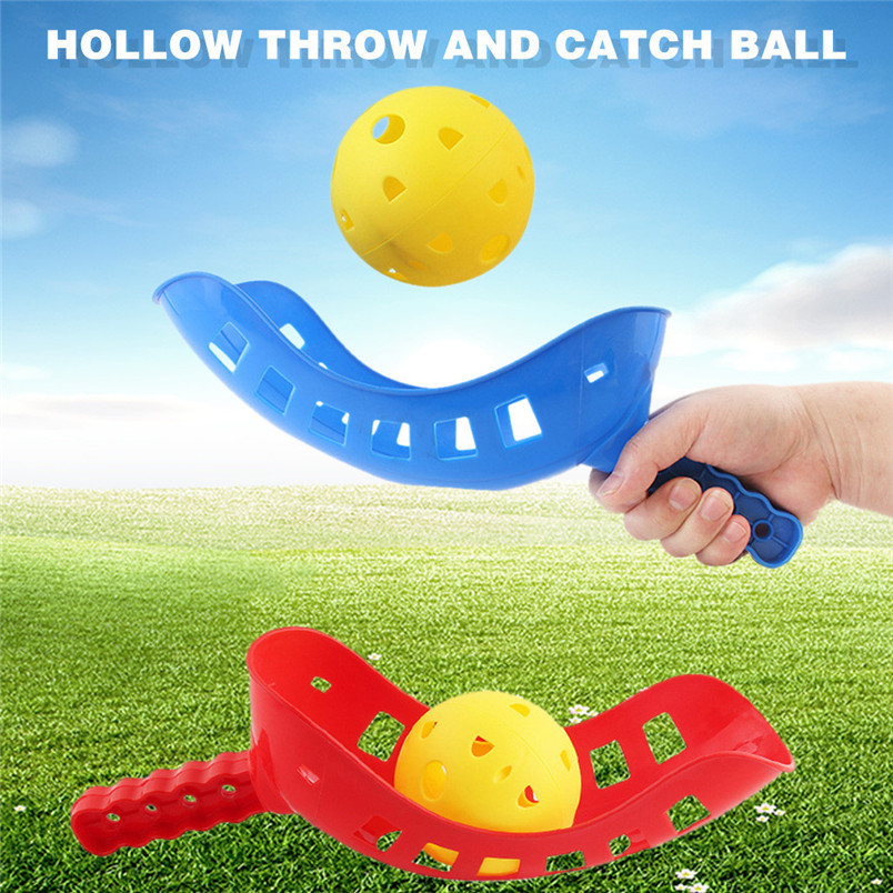 Fashion Kids Hollow Throw And Catch Ball Toy Parent-Child Interactive Outdoor Game Kid Toys Education Kids Sport Toys 30AG14