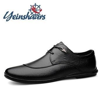 Zapatos informales de lujo de Piel auténtica para Hombre, Zapatos formales de...