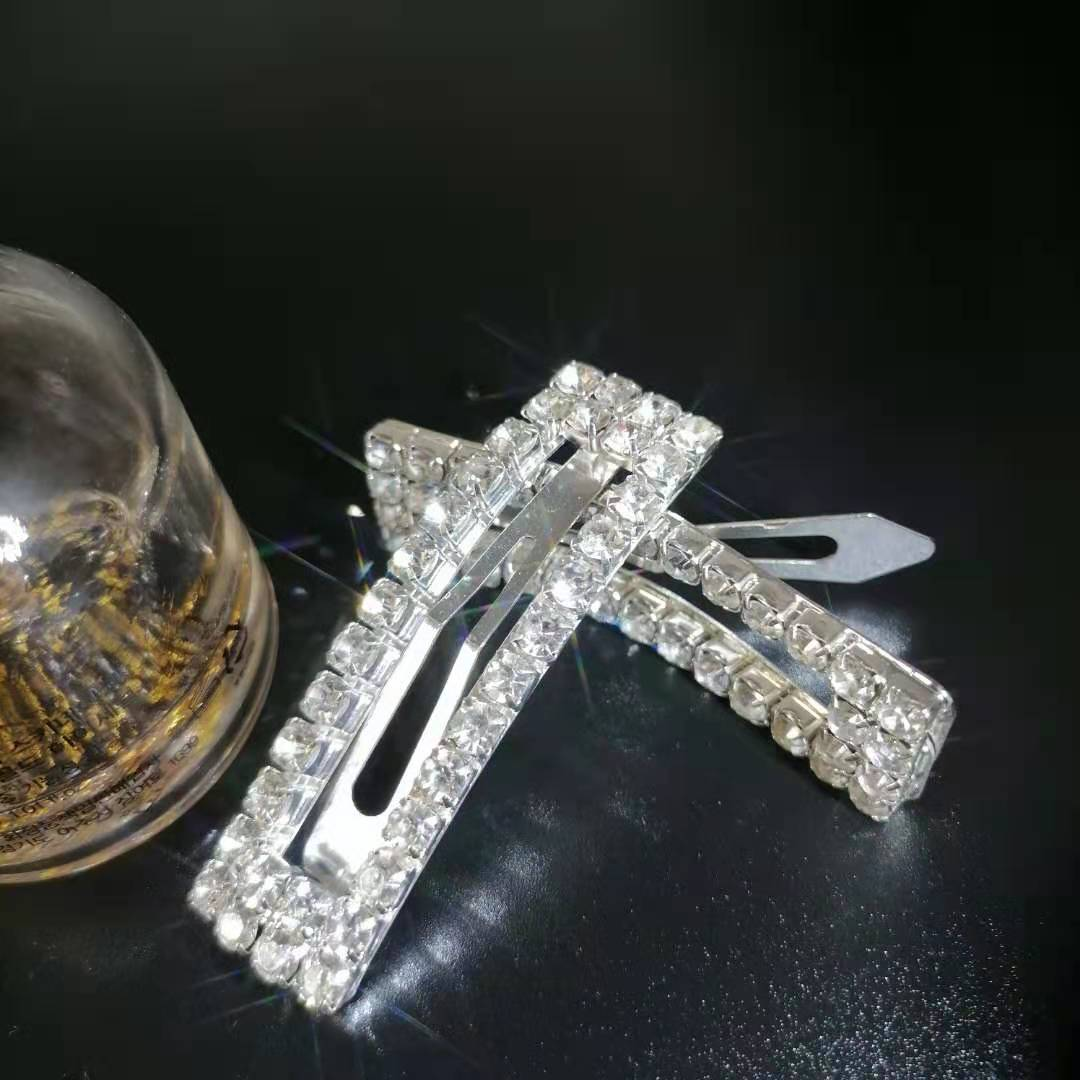 Exquisite ultra sparkly crystal hairpin stylish geometric BB clip|Hair Jewelry| - AliExpress