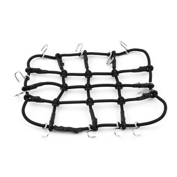 T-Power Roof Rack Luggage Net Carrier Mesh Cover with Hook for 1/10 Crawler RC Car Crawler CC01 AXIAL SCX10 RC4WD D90 image