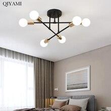 Lámparas de araña Led modernas E27 para sala de estar, dormitorio, pasillo, 6 lámparas, decoración nórdica, luminaria, accesorios, sin bombillas