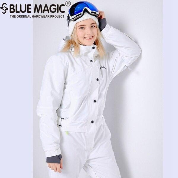 Синий волшебный зимний сноуборд kombez лыжная куртка и брюки лыжные костюмы женский комбинезон женский сноуборд водонепроницаемый комбинезон Россия - Цвет: NEW WHITE