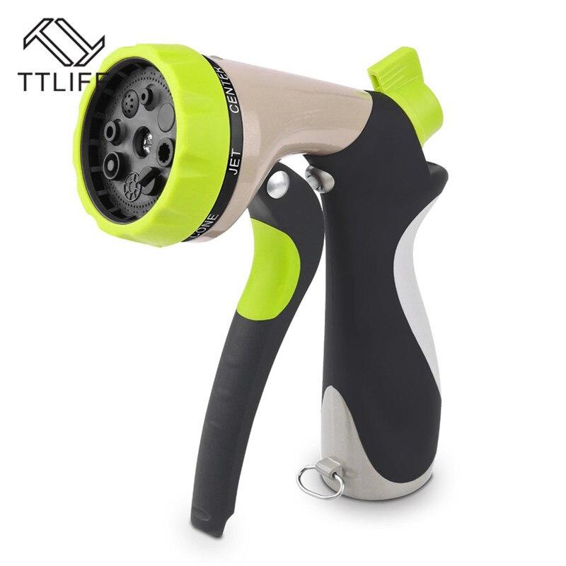 TTLIFE 8 Arten Zink Front Wasser Pistole Schlüssel Griff Garten Schlauch Düsen Sprinkler Sprayer Rasen Garten Landwirtschaft Bewässerung Pistole