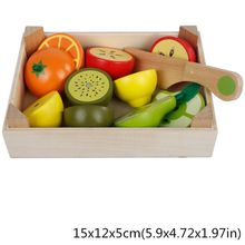 Wooden Classic Game Simulation Kitchen Series Toys Cutting Fruit Vegetable Set Toy Montessori Early Education Gifts Kitchen