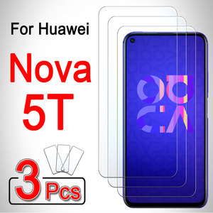 For huawei nova 5t case phone cover 5 t t5 armored huwei hawei hauwei huawey huawie 3 pcs huawi huawai huaweii hawei nova5t glas(China)