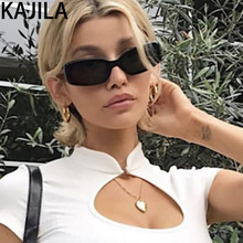 Black Rectangle Sunglasses Women Retro Small Vintage Square