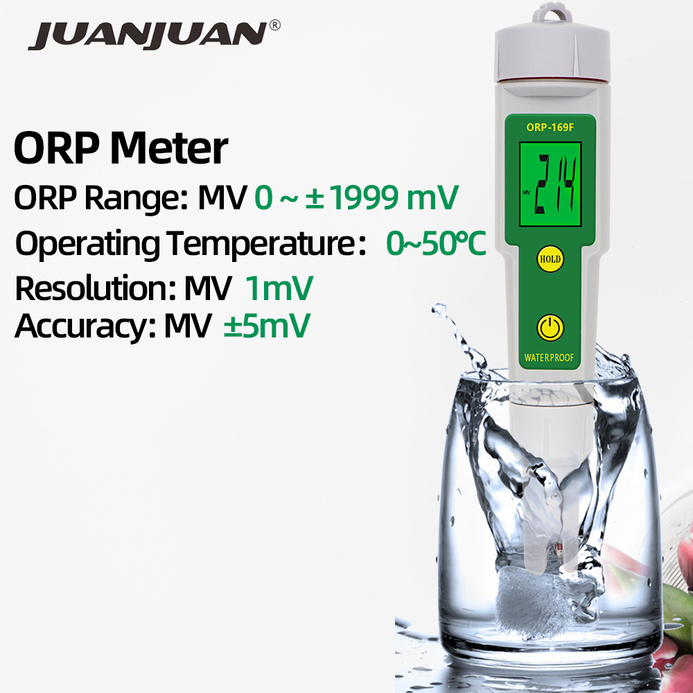 ORP169F ORP Meter Redox Potential Tester Digital Water Monitor Negative Potential Pen Tester 30% Off