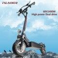 Электрический скутер для взрослых с сиденьем, складной гироскутер с толстыми шинами, электронный самокат E 2400 Вт