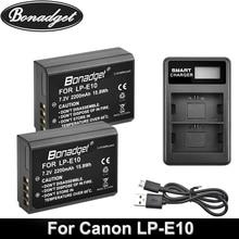 Bonadget 1600mAh LP-E10 LP E10 LPE10 Digital Camera Battery For Canon 1100D 1200D 1300D Rebel T3 T5 KISS X50 X70 Camera Battery недорого