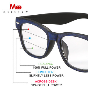 Image 5 - Meeshow קריאת משקפיים Multifocal גברים רטרו אירופה כחול אור חסימת משקפיים prtection Leesbril קריאה מתקדמת 1512